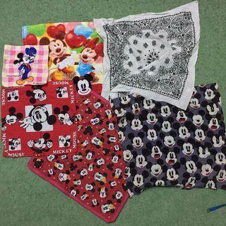 Mickey handkerchief pocket squre face towel