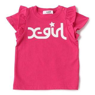 X-Girl stages 荷葉袖T-shirt