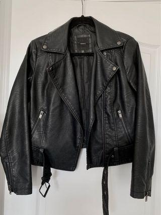 Forever 21 Faux Leather Jacket Black