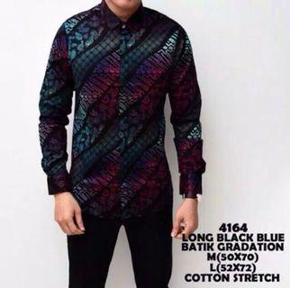 Kemeja batik cotton stretch slim fit
