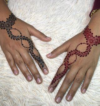 Red and black Eid Henna