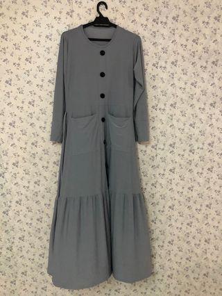 Jubah dress material lycra