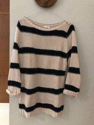 Sweater Rajut Knit Stripes