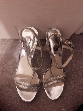 Michae Kors (MK) Silver Dress Sandals 8.5