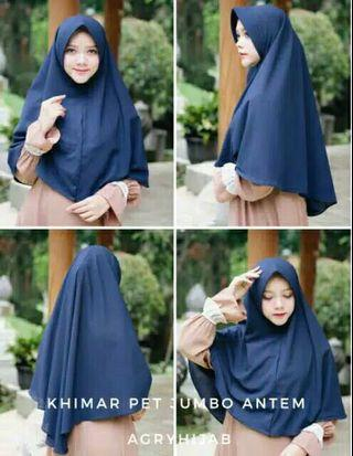 Hijab Khimar Pet Jumbo Anti Tembem
