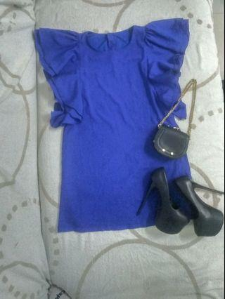 Ruffle shoulder dress-preloved