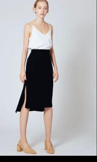 Our second nature straight cut midi skirt OSN