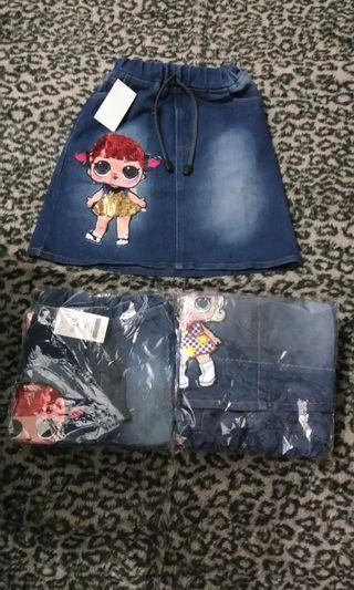 Rok jeans anak
