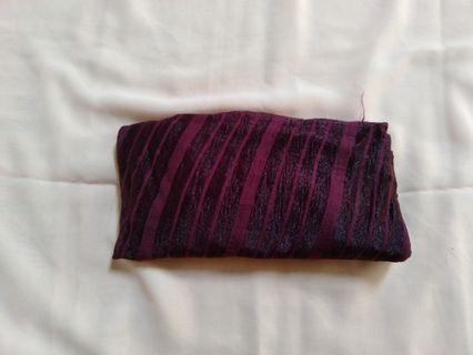 #BAPAU Pashmina garis ungu