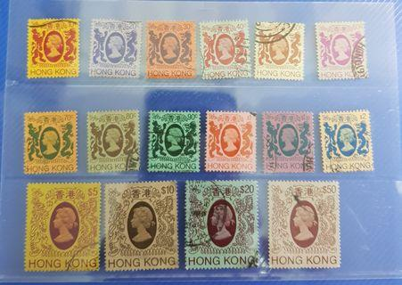 Hong Kong QEll used stamps to $50