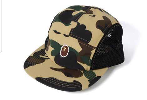b63ad03ecc028 Bape 1st Camo Ape Head One Point Mesh Jet Cap