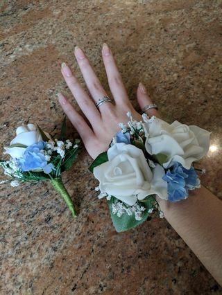 Handmade Corsage and Boutonniere set