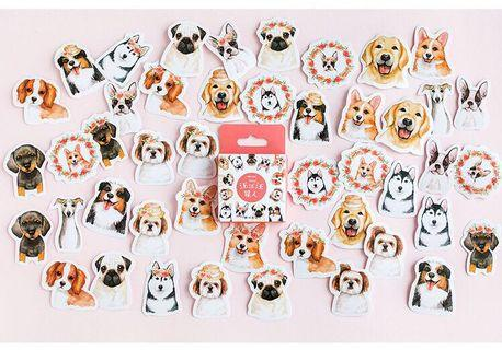 [PO] cute dog stickers