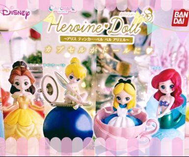 迪士尼公主扭蛋4 Alice Tinker Bell 貝兒 小魚仙