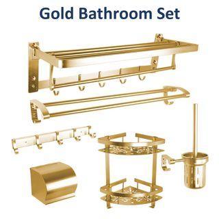 Classic Gold Bathroom Rack / Gold Bathroom Set