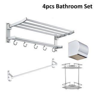 ❌ Rusty Bathroom Rack Set / 4pcs Bathroom Set