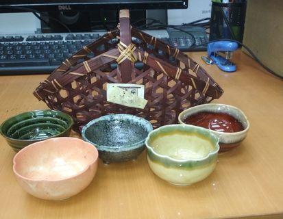 日本三洋龍峰窯小器皿五件