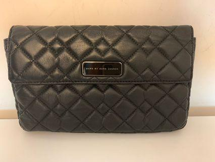 Marc by Marc Jacobs quilted black leather clutch