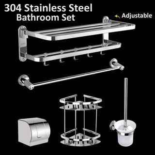 Best Deal 304 Stainless Steel Bathroom Rack Set