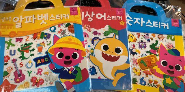 Pinkfong 學習貼紙 Baby Shark