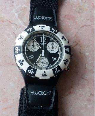 Swatch watch with velcro錶(魔術貼錶帶)