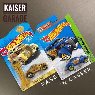 Hot Wheels Lot 2pcs Pass 'N Gasser