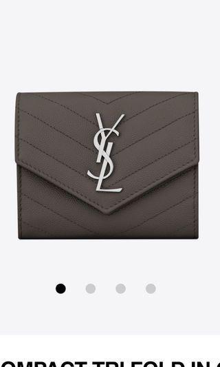 YSL Tri Fold Wallet