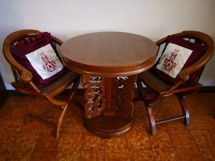 Chinese antique table & chairs