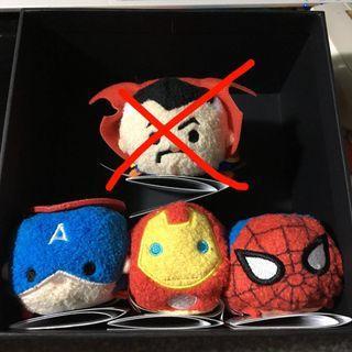Disney Tsum Tsum Marvel Tsum Tsum Doctor Strange Captain America Iron Man Spider-Man 上海版 SHDL version