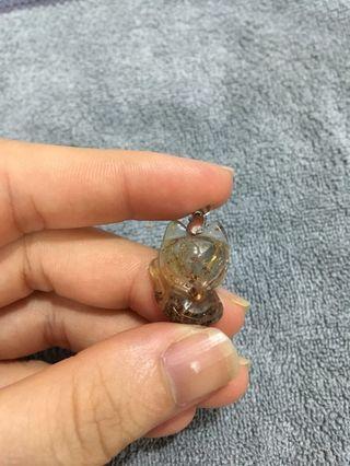 golden quartz rutilated fox钛金狐仙
