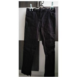 Massimo Dutti Black Pants Trousers Bottoms
