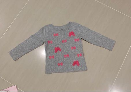 Carters Long Sleeve Top with ribbons