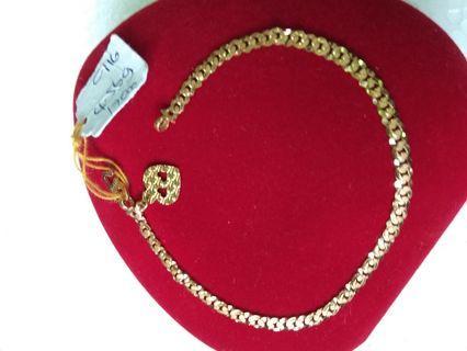 Ready No Waiting 916 Gold Adult Bracelet