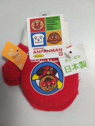 全新麵包超人日本製手襪 適合2 ~3歲
