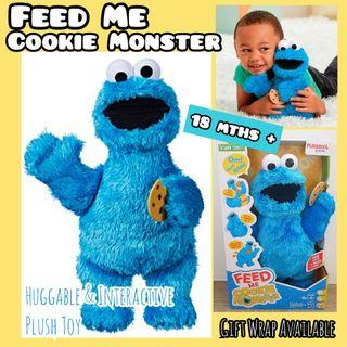 """SALE! Usual $48! Sesame Street 13"""" Cookie Monster Interactive Plush Toy by Playskool"""