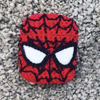🚚 Spiderman Handmade Crochet Airpods Case