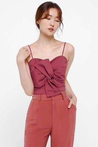 Axelle Twist Front Bustier Top