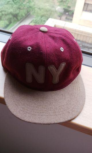 🚚 NY字毛呢棒球帽