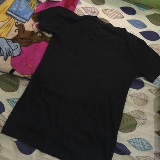 Black T-Shirt Dry Uniqlo