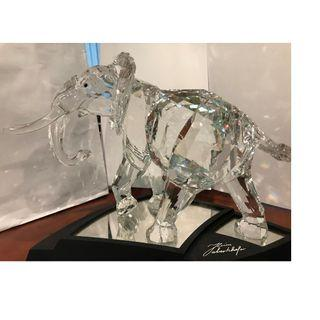 施華洛世奇 2006年限量版大象水晶  Swarovski Large Crystal Elephant 2006 Limited Edition