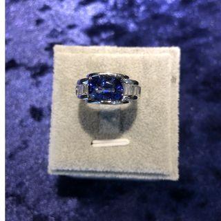 無瑕藍寶石鑽戒