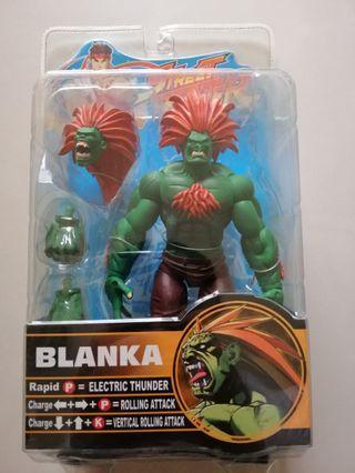 🚚 SOTA快獸快打旋風街頭快打BLANKA臉部外盒塗料淡綠偏橘法髮如圖