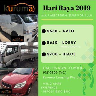 HARI RAYA RENTAL 2019!!!