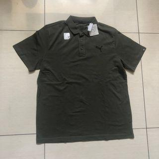 Puma Dry Cell polo shirt in moss green