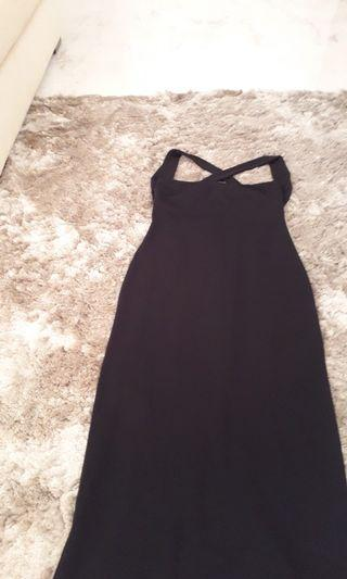 Hugo Buscati , Long black dress, criss cross at the back