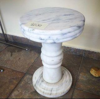 Round full marble stool chair