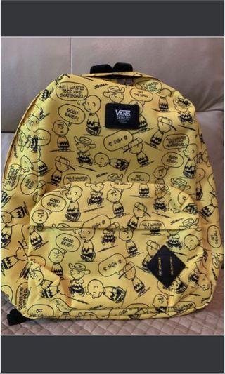 Vans crossover Snoopy Charlie Brown Peanut Backpack 史奴比狗狗主人查理布朗 黃色 絕版