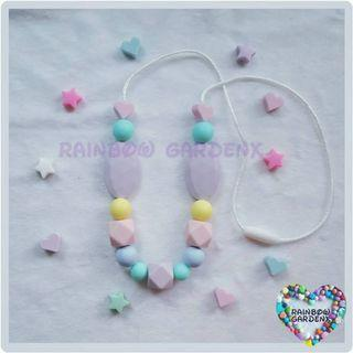 Handmade Pastel beads Necklace / Teething Necklace