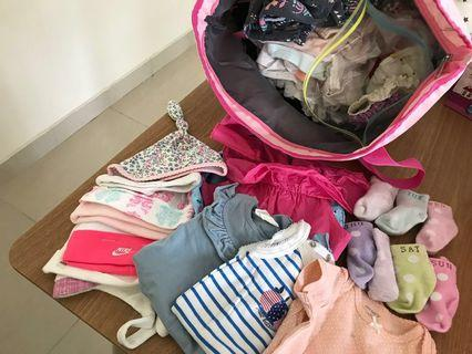 🚚 FREE USED BABY GIRL CLOTHES