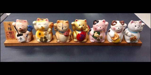 七福貓個性裝飾物招財貓